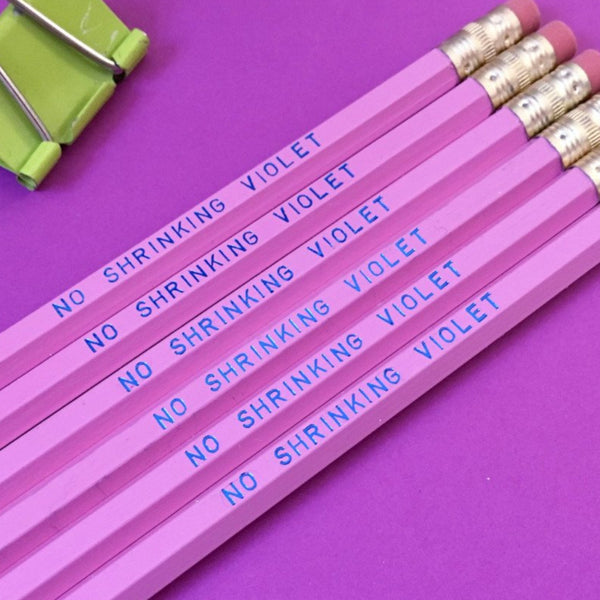 NO SHRINKING VIOLET Pencil Set