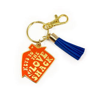 Love Shack Soft Enamel Keychain in Red