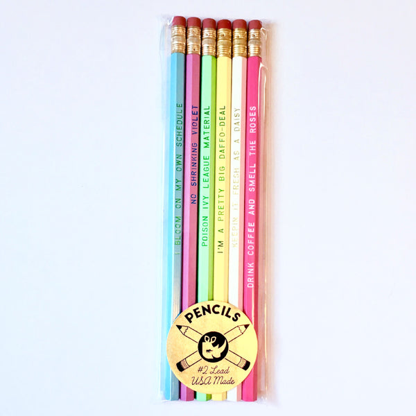 Flower Power Pencil Set