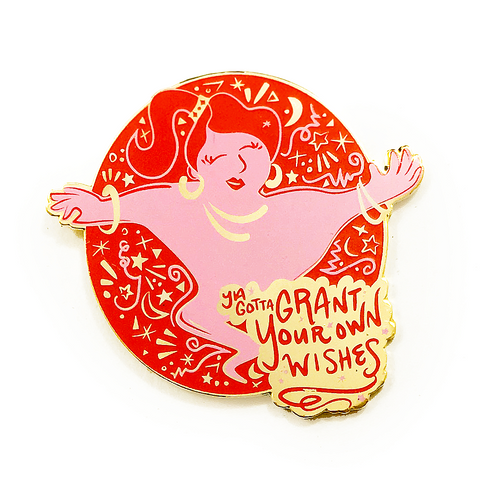 Grant Your Own Wishes Genie Pin - Red