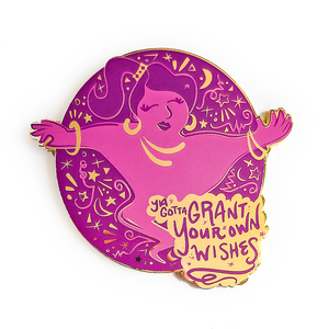 Grant Your Own Wishes Genie Pin - Purple