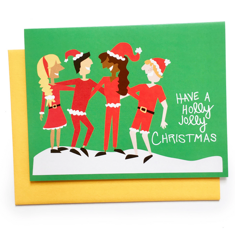 Holly Jolly Friends Card