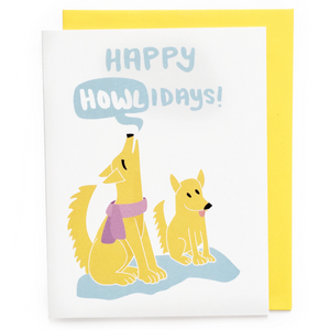 Happy Howlidays Card || holiday card, christmas card, xmas card, merry christmas, funny holiday card, dog card, dog christmas