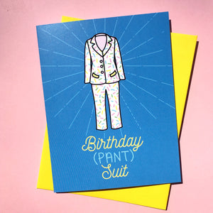 Birthday (Pant)suit Card
