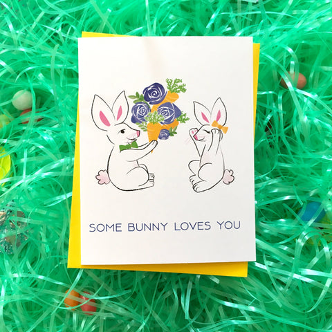 Some Bunny Loves You Card (Style C)
