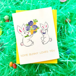 Some Bunny Loves You Card (Style D)