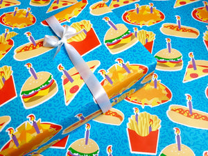 Junk Food Birthday Gift Wrap