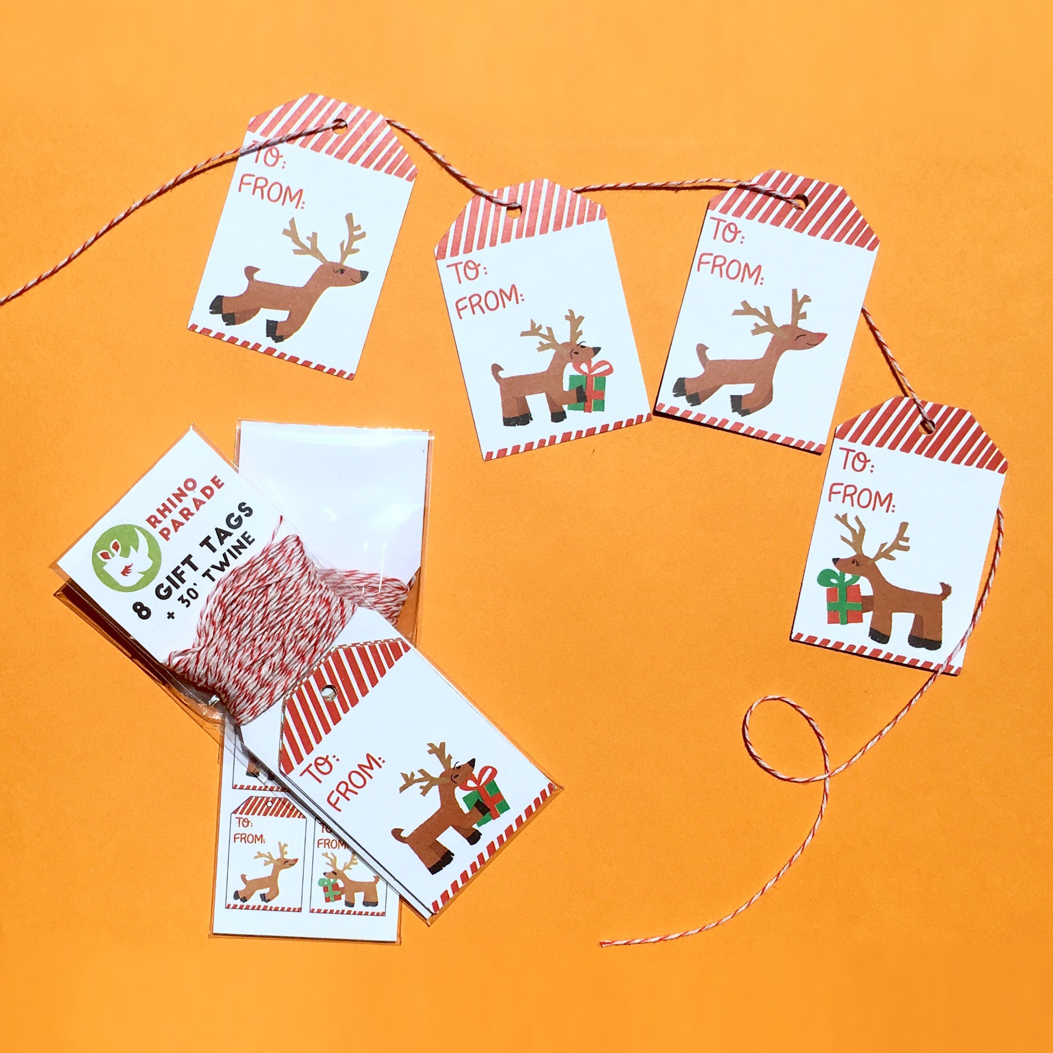 Christmas Gift Tags || set of 8 || holiday gift tags, reindeer gift, gift wrap