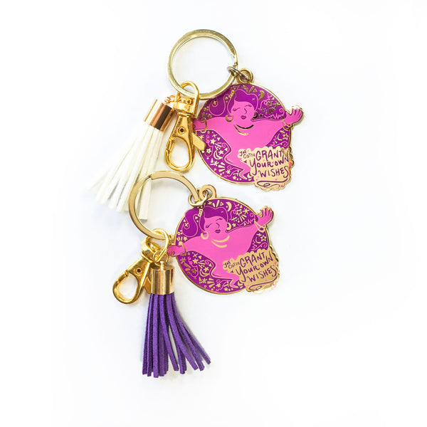 Genie Enamel Keychain in Purple