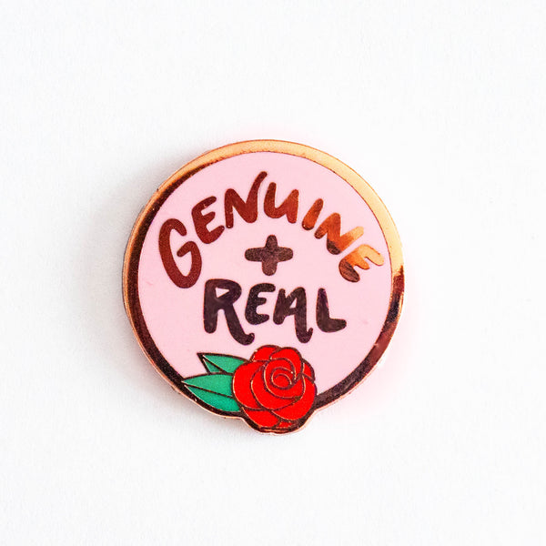 SO GENUINE AND REAL The Bachelor Enamel Rose Gold Pin