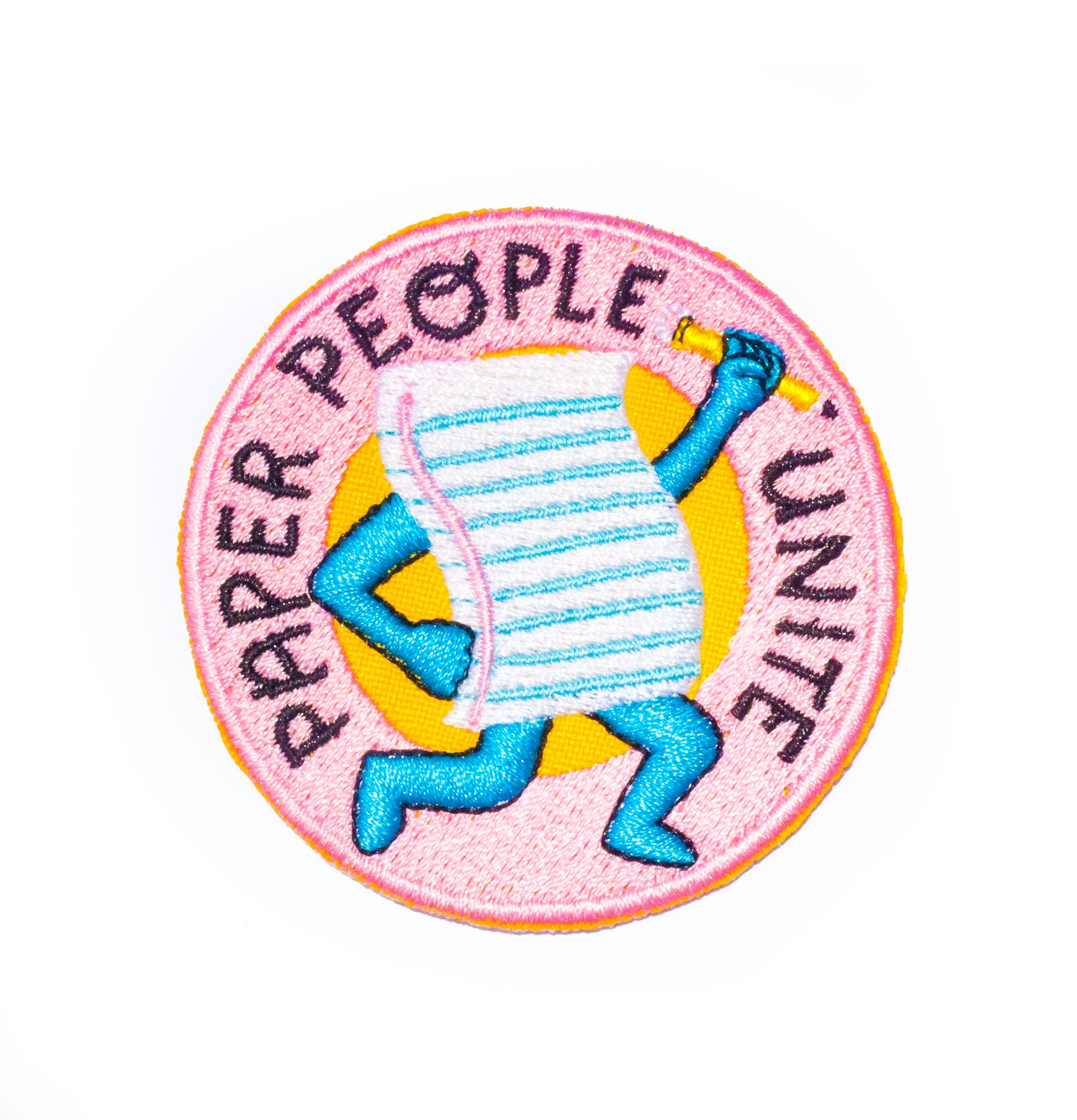 Paper People Unite Iron-On Patch