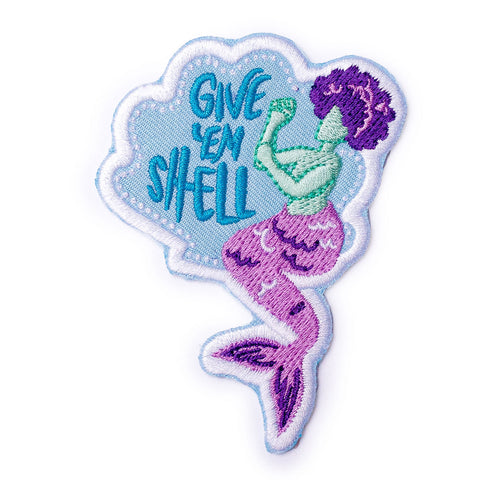 Give 'Em Shell Iron-On Patch