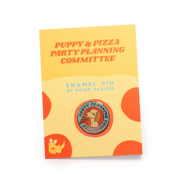 Pizza Party Planning Comittee Pin