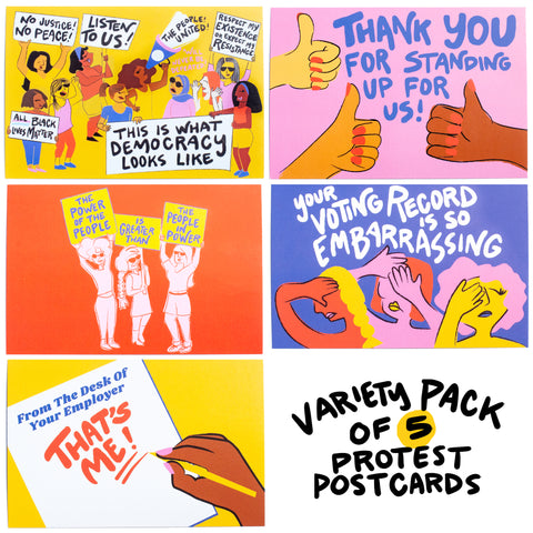 Everyday Protest Postcards (Set of 5)