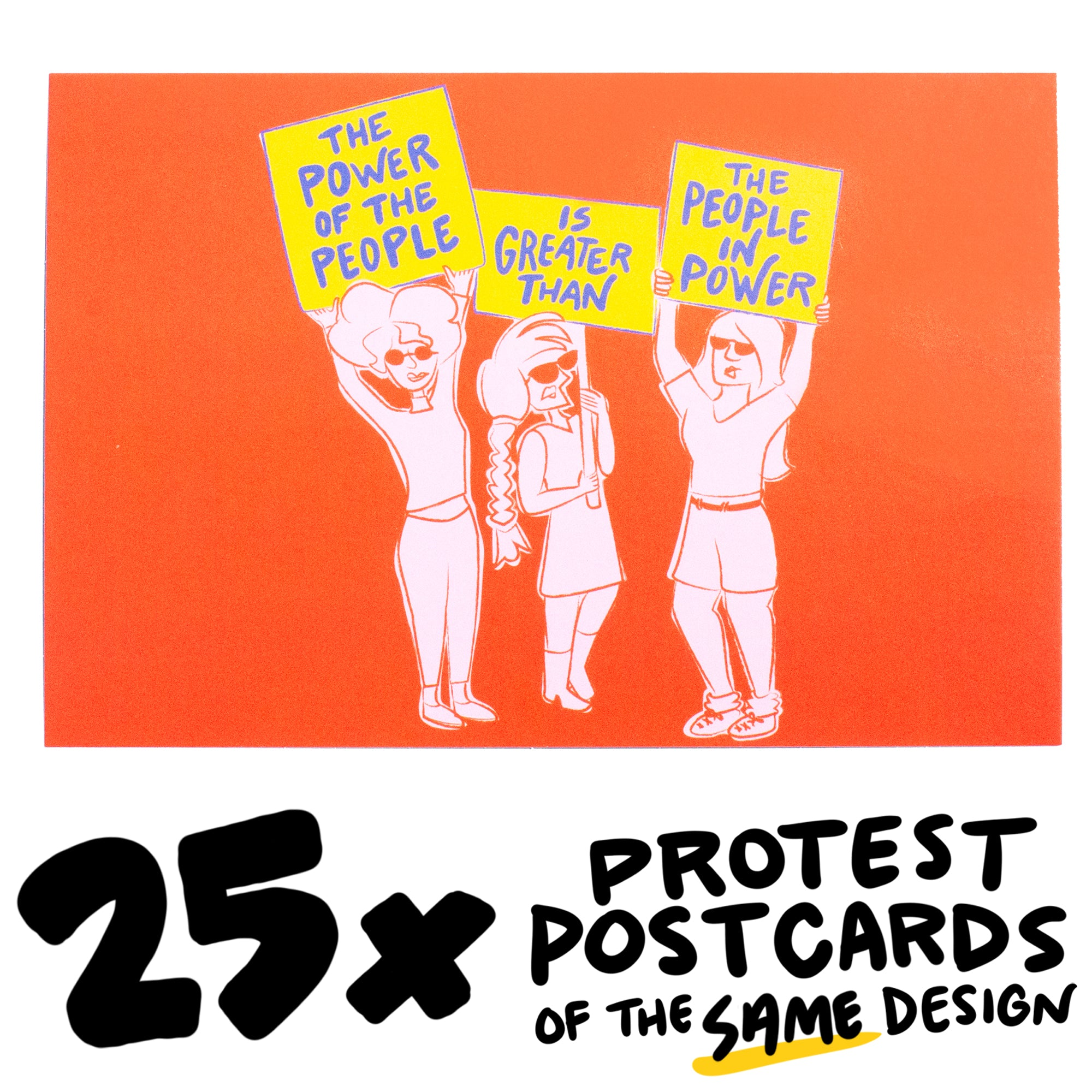 "25x ""Power of the People"" Protest Postcard"
