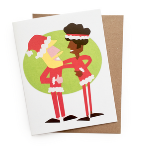 Santa Besties Card || holiday card, christmas card, xmas card, merry christmas, santa card, holiday card, santas, cute christmas card