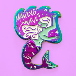 Makin' Waves Mermaid Duochrome Pin