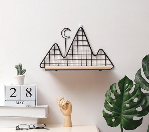 Metal Wall Shelf hanged on the wall - Nordic Style Wall Decor Alex and Gaby Toys