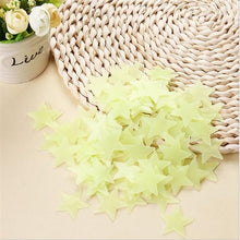 Load image into Gallery viewer, Alex and Gaby Toys Fluorescent Stars for room decoration yellow