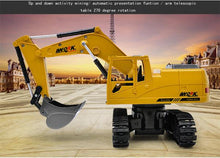 Load image into Gallery viewer, Alex and Gaby Toys RC Excavator Toy front view