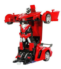 Load image into Gallery viewer, Alex and Gaby Toys RC Police Car to Robot Transformation red