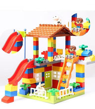 Load image into Gallery viewer, DIY Colorful City House made of bricks Alex and Gaby Toys