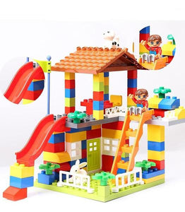 DIY Colorful City House made of bricks Alex and Gaby Toys