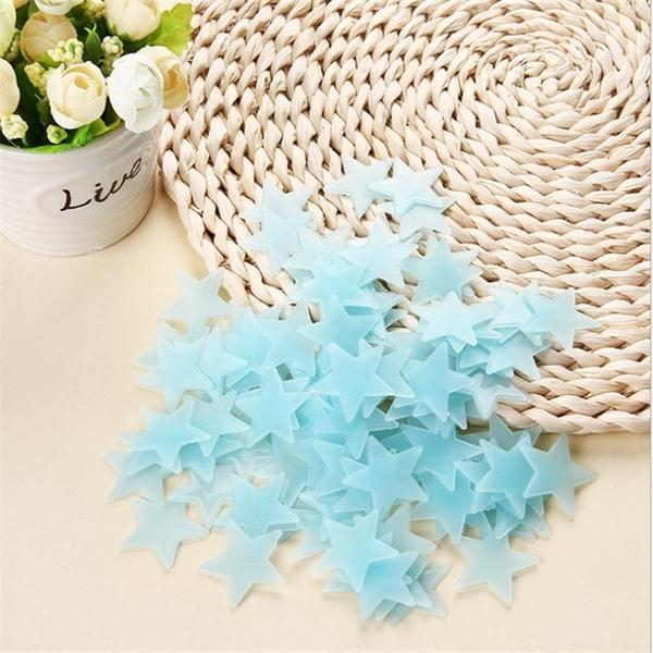 Fluorescent Stars for room decoration blue Alex and Gaby Toys