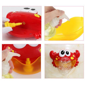 Funny Bubble Maker Music Crab filling with bubble mix Alex and Gaby Toys
