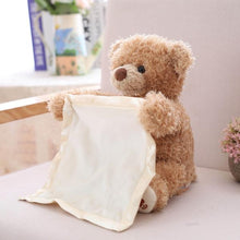 Load image into Gallery viewer, Hide and seek Teddy Bear Alex and Gaby Toys Front view Bear toy