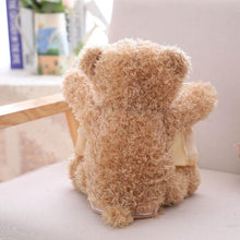 Load image into Gallery viewer, Hide and seek Teddy Bear Alex and Gaby Toys back view