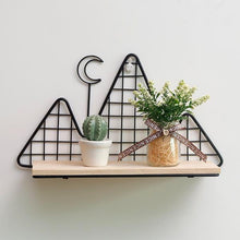 Load image into Gallery viewer, Metal Wall Shelf - Nordic Style Wall Decor Alex and Gaby Toys possible decorations