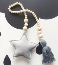 Load image into Gallery viewer, Nordic Style Wooden Star Beads Alex and Gaby Toys Grey color