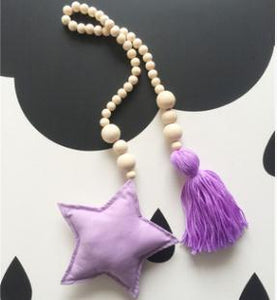 Nordic Style Wooden Star Beads Alex and Gaby Toys Purple color