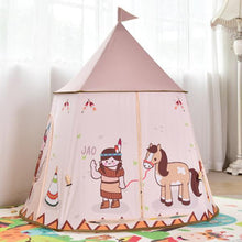 Load image into Gallery viewer, Pink Castle Playhouse alex and gaby toys front view