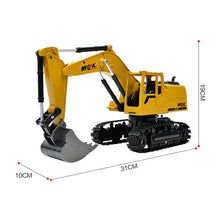 Load image into Gallery viewer, RC Excavator Toy dimensions Alex and Gaby Toys