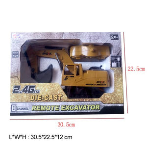 RC Excavator Toy original box dimensions Alex and Gaby Toys