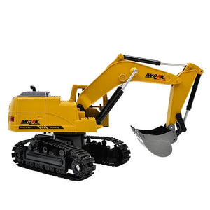 RC Excavator Toy side view Alex and Gaby Toys