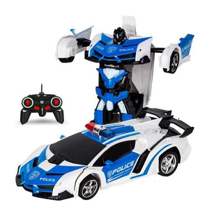 RC Police Car to Robot Transformation Alex and Gaby Toys