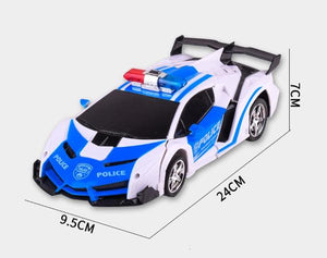 RC Police Car to Robot Transformation car dimensions Alex and Gaby Toys