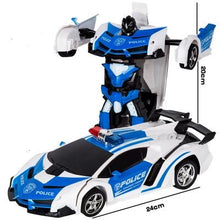 Load image into Gallery viewer, RC Police Car to Robot Transformation police color and dimensions Alex and Gaby Toys
