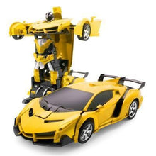 Load image into Gallery viewer, RC Police Car to Robot Transformation yellow Alex and Gaby Toys
