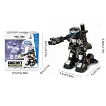 Load image into Gallery viewer, RC boxing robot alex and gaby toys black dimensions