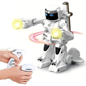RC boxing robot alex and gaby toys white