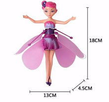 Load image into Gallery viewer, RC flying fairy alex and gaby toys dimensions