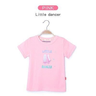 Kids T Shirts For Girls 2019 Summer Children Cotton Ballet Dance T Shirts - Mimi's Eco Fashions