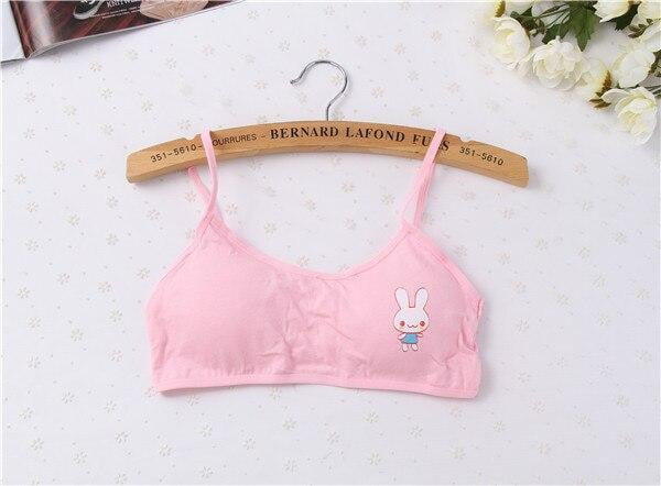Teenage Girl Bra Cotton Underwear Puberty Vest Cartoon Printed No Steel Bras Harness Bra - Mimi's Eco Fashions