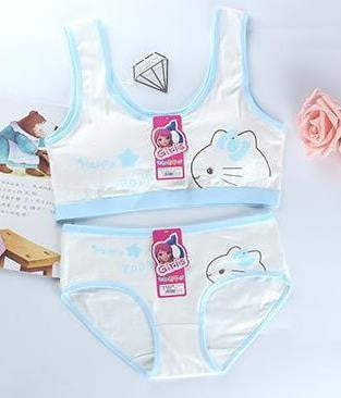 Girls cotton training Bra Sets Teenage Cartoon Underwear Bras Baby Clothing Wireless - Mimi's Eco Fashions