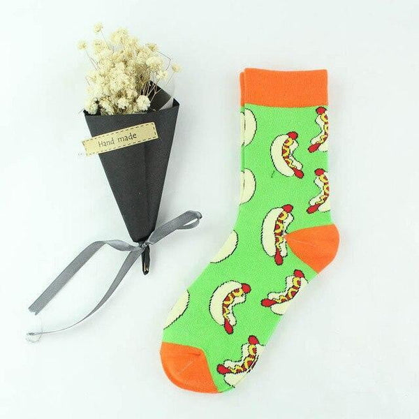 Fashion woman cotton socks fun watermelon fruit socks monkey - Mimi's Eco Fashions