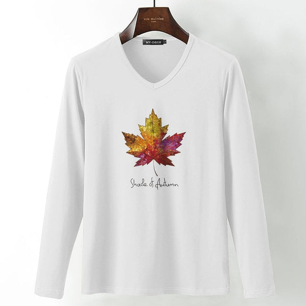 Canadian Maple Leaf Long Sleeve T shirt Men Cotton Casual Fashion Spring Autumn Tees Tshirts